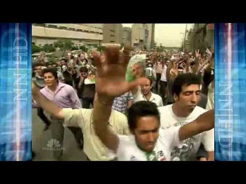 Ahmadinejads victory sparks violence in Tehran Iran