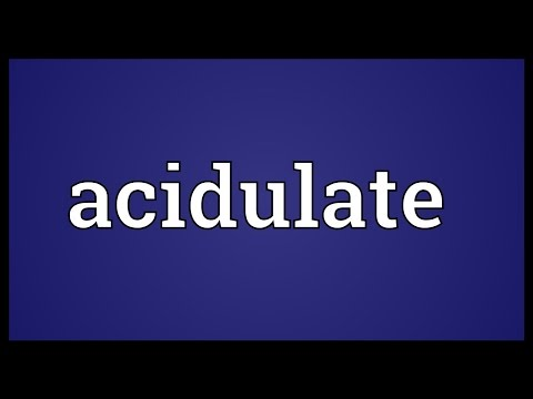 Header of acidulate