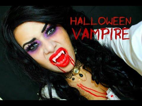 Vampira para Halloween