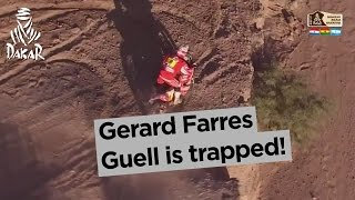 Stage 3 - Top moment: Gerard Farres Guell is trapped! - Dakar 2017