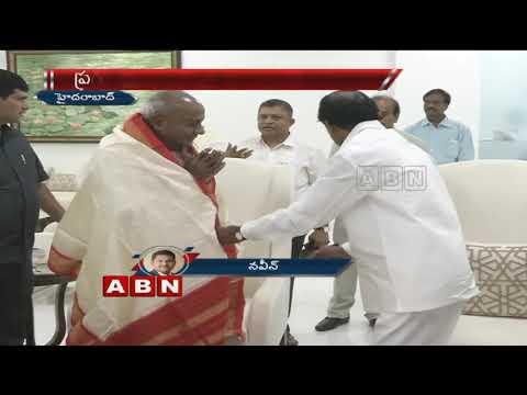 JDS Chief Deve Gowda Meets CM KCR at Pragathi Bhavan