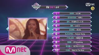 What are the TOP10 Songs in 1st week of August? M COUNTDOWN 180802 EP.581