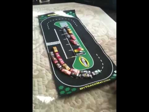 Brandon Playing With His Nascar Track Mat Youtube