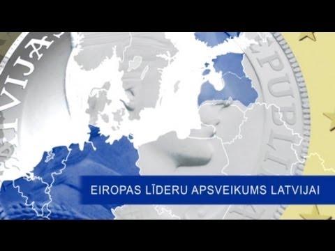 ES valstu līderu apsveikumi Latvijas iedzīvotājiem, iestājoties eirozonā