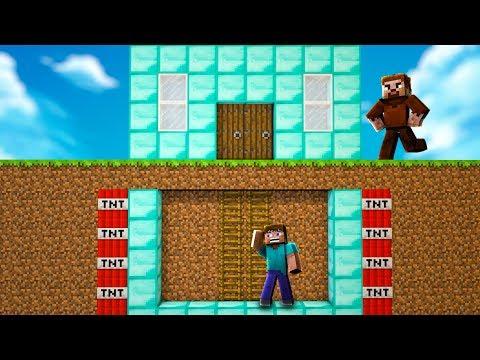 FAKİR EVİN ETRAFINA TNT YERLEŞTİRDİ! 😱 - Minecraft