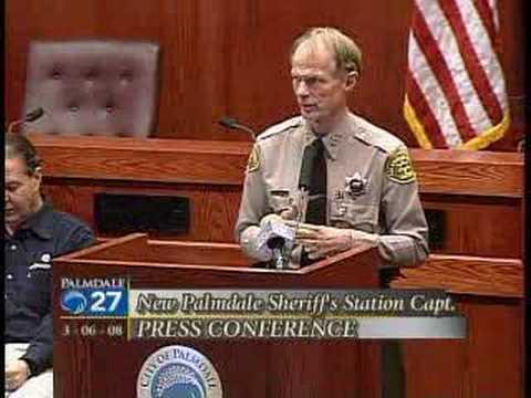 Palmdale Sheriffs Press Conference, 3/6/08 - Segment #1