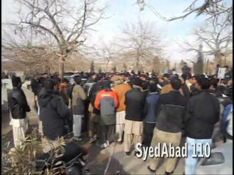 Tadfeen Shohada-e-Mekangi Road Quetta