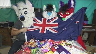 American Furries Try New Zealand Candy & Snacks (w/ Kiwi Fox & Mark's Barks)