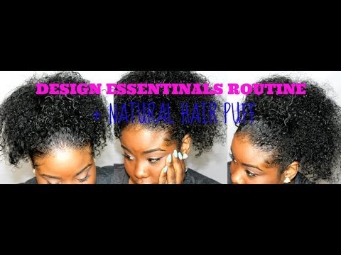♥ DESIGN ESSENTIALS naturals review + Curly Puff tutorial