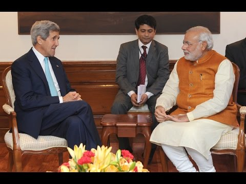 US Secretary of State John Kerry calls on PM Narendra Modi