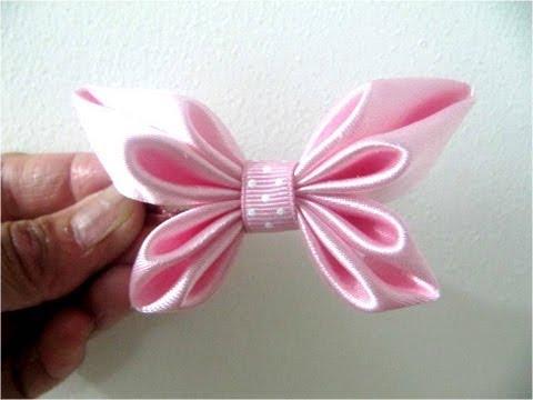 Moños para el cabello en cintas diseño mariposa