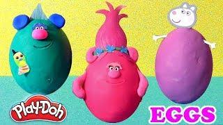 Trolls Surprise Clay Buddies with Play-Doh Peppa Pig & Mickey Disney Huevos Sorpresa by Funtoys