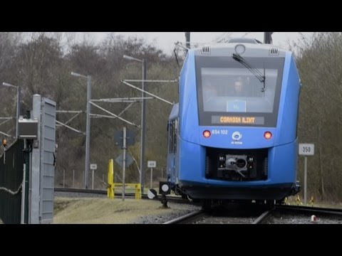 Aboard the first hydrogen commuter train
