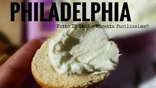 PHILADELPHIA fatto in casa -how to make philadelphia cheese- RICETTE DI GABRI