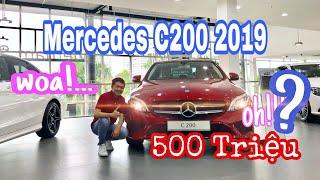 Sở hữu xe Mercedes C200 2019 với hàng loạt công nghệ mới chỉ với 500 triệu