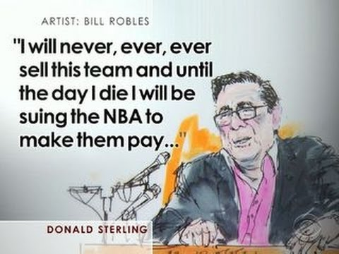 "Calling wife ""pig"", Donald Sterling vows never to sell LA Clippers"