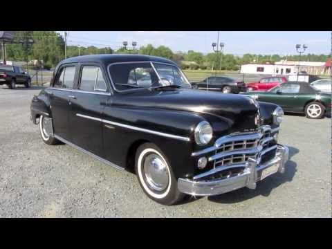 1949 dodge coronet gyro matic start up exhaust and in. Black Bedroom Furniture Sets. Home Design Ideas