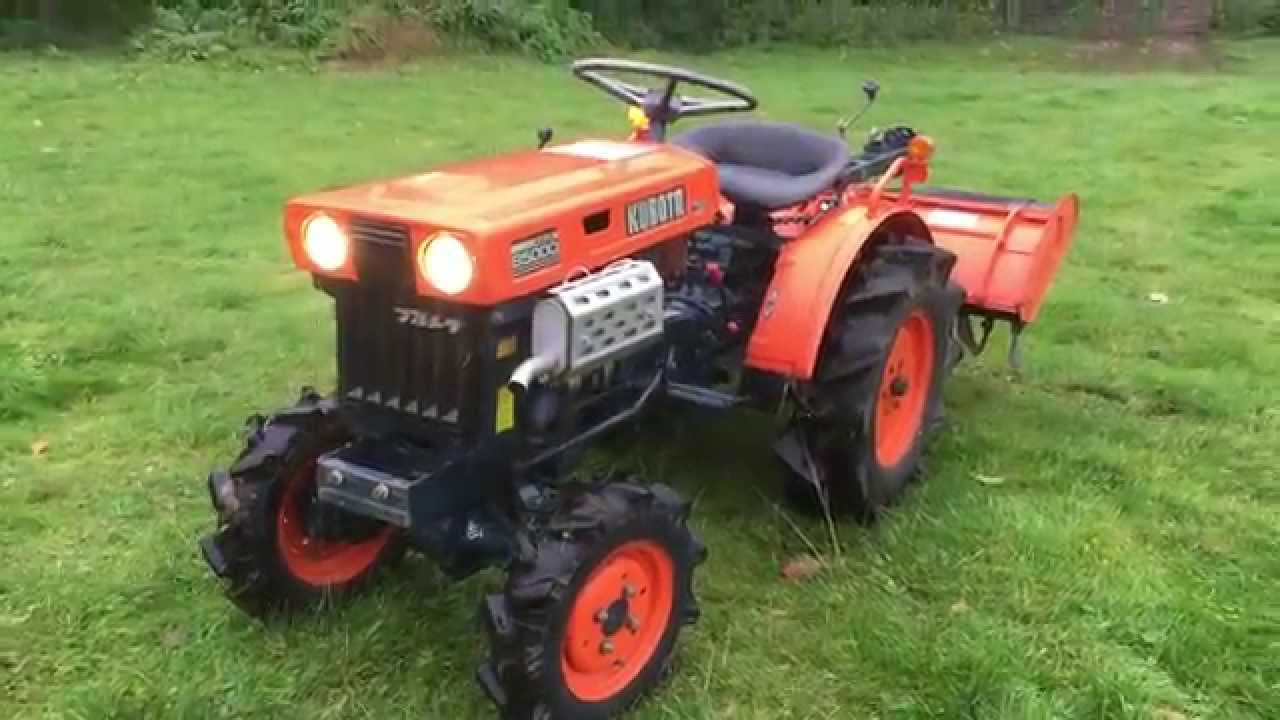 Compact Tractors For Sale >> Kubota B5000 4WD Compact Tractor with Rotavator for sale - YouTube
