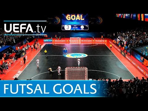 Great Futsal EURO final goals from 1999 to 2014