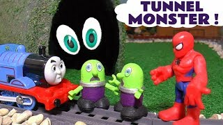 Funny Funlings Tunnel Monster with Thomas The Tank Engine Spiderman and Hulk TT4U