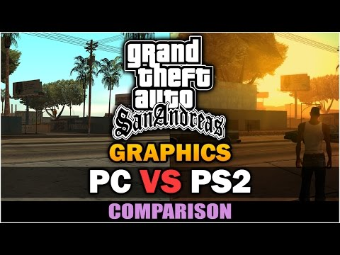 GTA San Andreas - PS2 VS PC Graphics [Comparison]