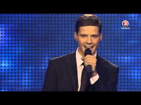 Petras Daunys - X-FAKTORIUS FINAL SHOW 1 (Islikimo daina) 2012-12-16