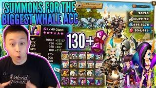 #1 BIGGEST Whale On Asia Server?! 130+ LD Summons! - REDONKULOUS LD NAT 5s / Runes - Summoners War