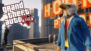 GTA 5 Super Hero Club! - Early Bird Returns, Rooftop Fun, Secret Identity Mission(Funny Moments)