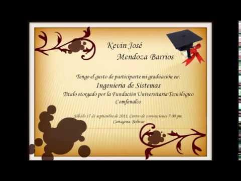 Frases para tarjetas de invitación para graduación universitaria ...