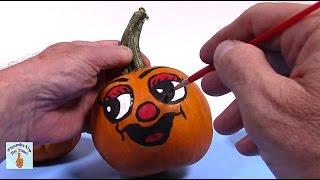 Painted Pumpkins for girls  Pumpkin Painting Ideas  Painted Pumpkin Faces