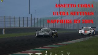 Assetto Corsa R9 280x FPS Ultra - Pagani Zonda R replay