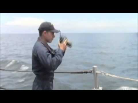 U S  Navy continues the search for MH370 as USS Kidd DDG 100 transits the Strait of Malacca