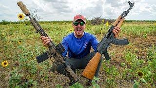 Serbian AK47 vs American AR15 (Shocked)