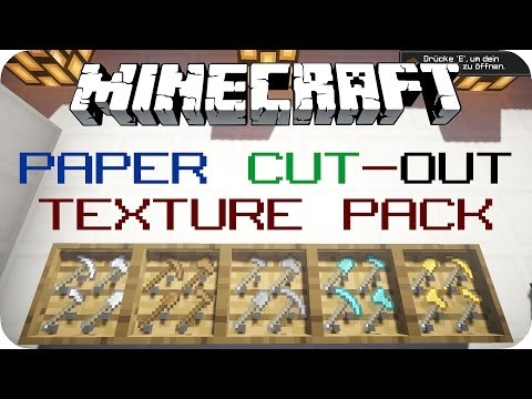 Paper Cut-Out [1.7.9] - Minecraft Texture Pack Review [DE] [HD]