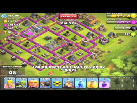 Let's Play Clash of Clans #15 - Below 200 Trophy Farming