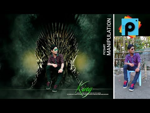 Picsart Editing Tutorial Fight Of Throne The Real King _ _ Picsart Photo Manipulation
