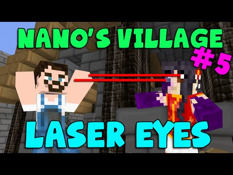 Minecraft - Nano's Village #5 - Laser Eyes (yogscast Complete Mod Pack) video