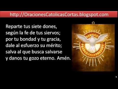 Oracion al espiritu santo ven espiritu ino youtube
