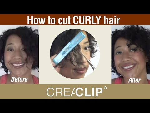 How to cut CURLY hair- Bangs and top LAYERS
