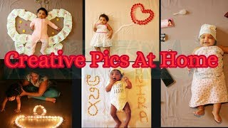#DIY/ CREATIVE PHOTO IDEAS FOR BABIES AT HOME/ BABIES PHOTOGRAPHY