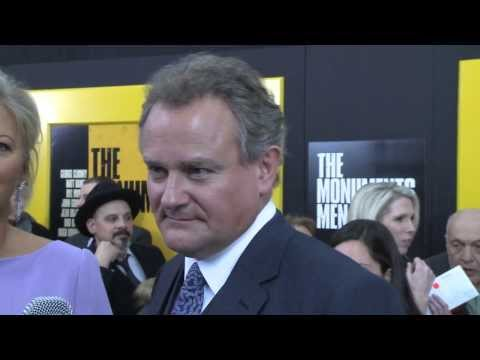 Hugh Bonneville Talks Downton Abbey Porn Movie With Brad Blanks At The Monuments Men Premiere video