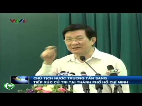 Chủ tịch nước Trương Tấn Sang tiếp xúc cử tri quận 1 và 3 TP