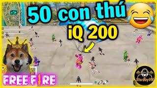 [Free Fire] Custom Sở Thú - 50 con thú đấm nhau 🤣 | StarBoyVN