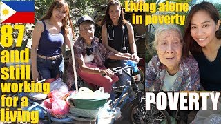 2 Beautiful Filipina Women Visited an Old Filipina Lady Who Lives in Poverty in the Philippines