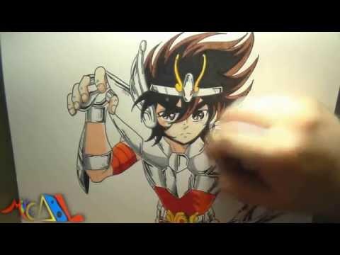 Dibujando a: Seiya