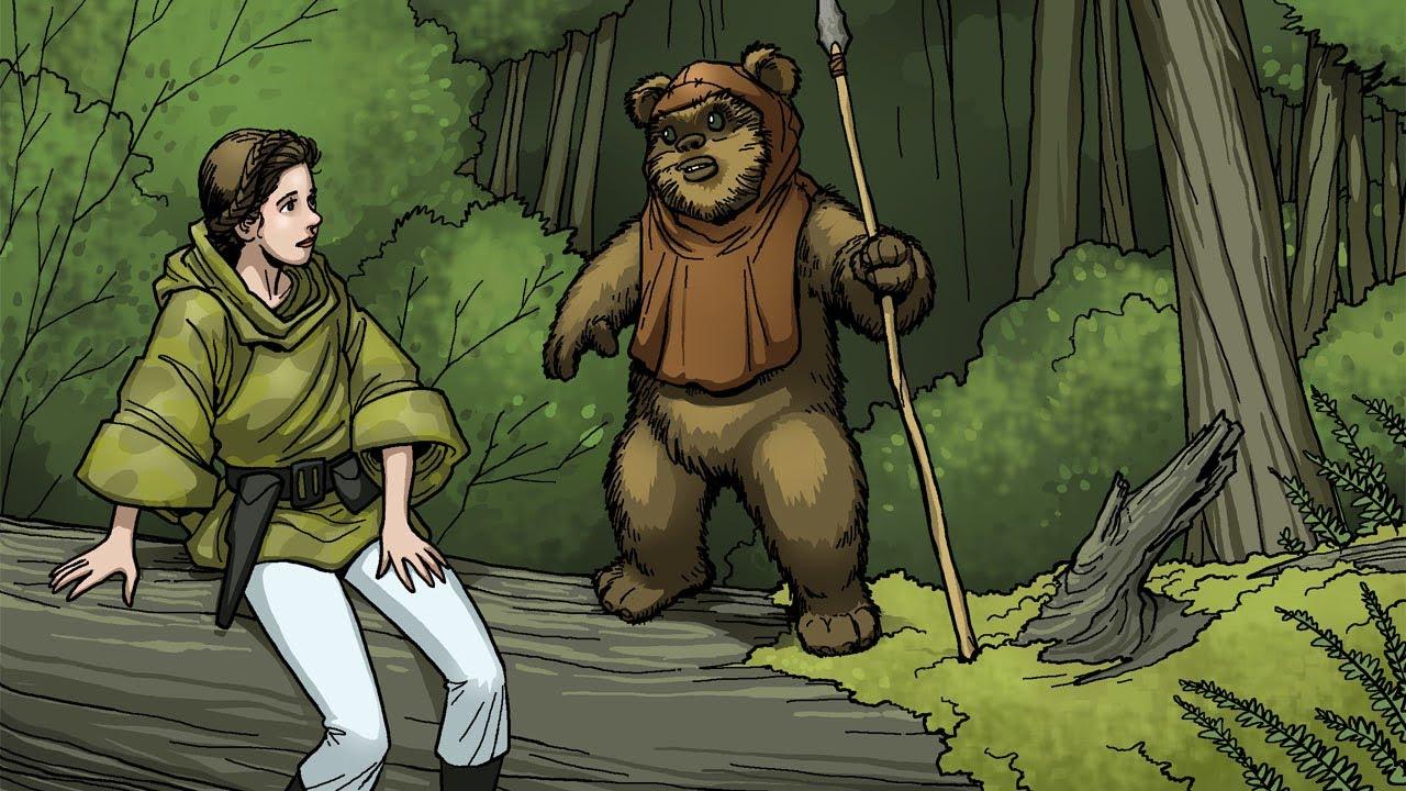 Princess Leia Meets Wicket Star