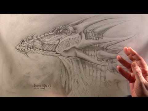 How To Draw A Dragon Dragon S Head Youtube