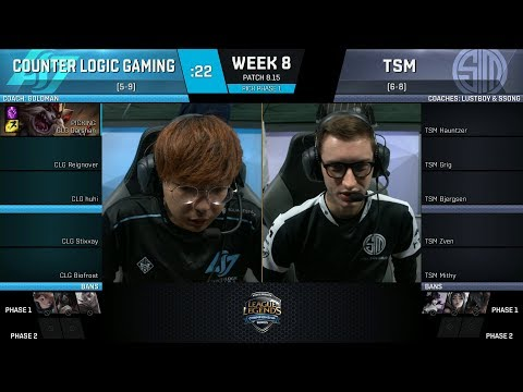 CLG vs TSM | Week 8 Day 1- NA LCS SUMMER 2018 - Counter Logic Gaming vs Team SoloMid