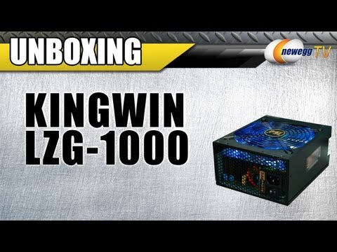 Unboxing: KINGWIN LZG-1000 80 PLUS GOLD Certified Modular Active PFC Power Supply