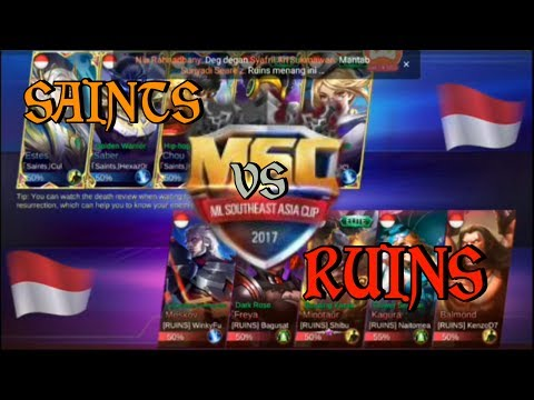 Tournament Mobile Legend Msc Asia Cup Ruins Vs Saints Babak